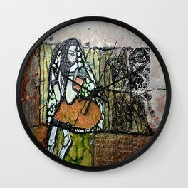 Seclusion - Mixed Media Pebeo Abstract Modern Art, 2015 Wall Clock