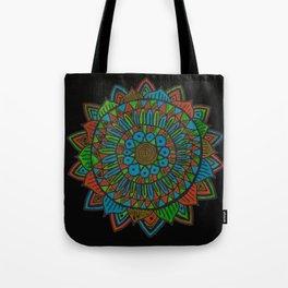 Glow Doodle Mandala Tote Bag