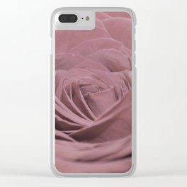 Light Pink Rose Clear iPhone Case