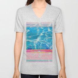 Water Glitch Unisex V-Neck