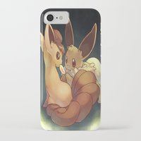 eevee iPhone & iPod Cases featuring Eevee and Vulpix by Yamilett Pimentel