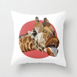 girafraide of triangles, aren't you? Throw Pillow