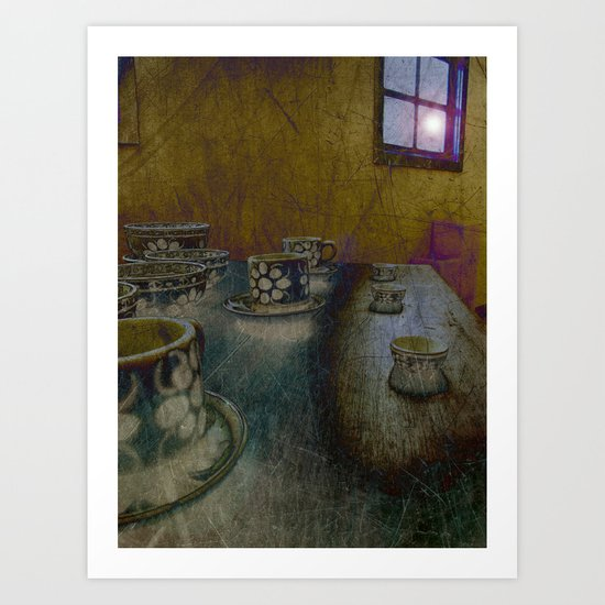 too late for tea Art Print