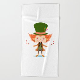 Mad Hatter Beach Towel