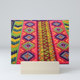 Colorful Guatemalan Alfombra Mini Art Print