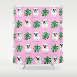 Pretty in Pink - Summer Frenchies Shower Curtain