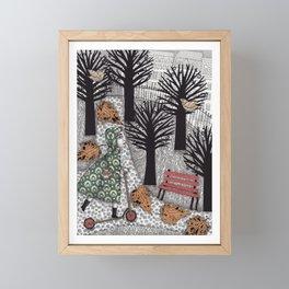 Autumn in the Park Framed Mini Art Print