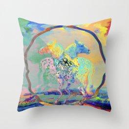 Glitch Horse II Throw Pillow