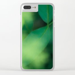 Green Green Green Clear iPhone Case