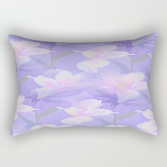 Abundance Of Flowers - Painterly Rectangular Pillow