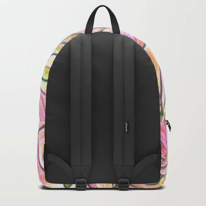 Flowing Soft Petal Abstract - Pink Backpack