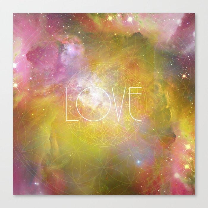 Love Sacred Geometry Canvas Print by andreiatreptow