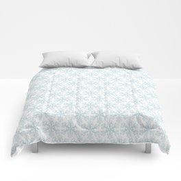 Blue Snowflakes Comforters