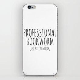 Professional Bookworm iPhone Skin