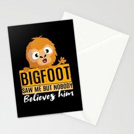 Bigfoot Saw Me Nobody Believes Sasquatch Stationery Cards