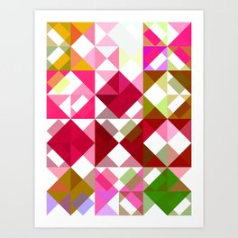 Crape Myrtle Abstract Triangles 1 Art Print