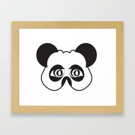 Panda party mask face Framed Art Print