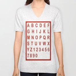 Alphabet Unisex V-Neck
