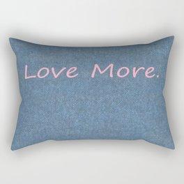 Love More on Denim. Rectangular Pillow