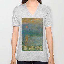 Hope:  The Sun Will Rise Unisex V-Neck