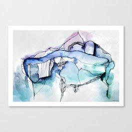 Island, Version A, Waterink Canvas Print