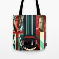 rush Tote Bags featuring Rush by milanova