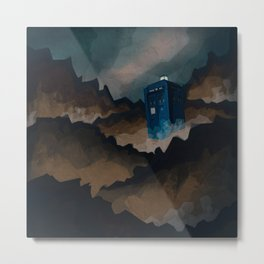TARDIS in Trenzalore Metal Print