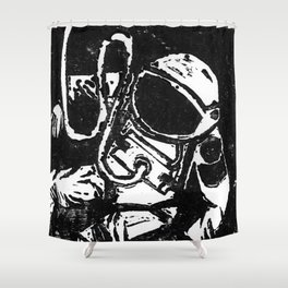 Space Man Shower Curtain