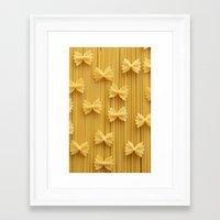 pasta Framed Art Prints featuring Pasta  by Ylenia Pizzetti