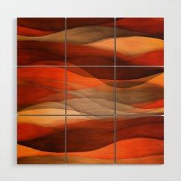 """Sea of sand and caramel waves"" Wood Wall Art"