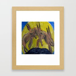 DANCE OF THE HARES Framed Art Print