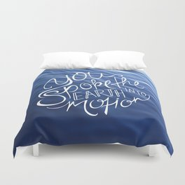 You Spoke the Earth into Motion Duvet Cover