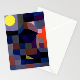 Paul Klee - Fire At Full Moon - 1933 Artwork Reproduction Stationery Cards