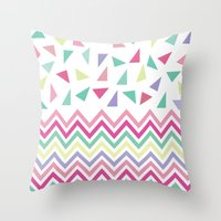confetti Throw Pillows featuring Confetti  by Bree Madden