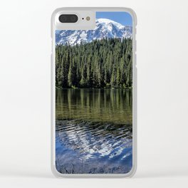 Ripples and Reflection, Mt Rainier Clear iPhone Case