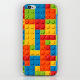 Bricks geometric pattern iPhone Skin