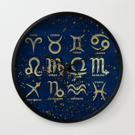 The 12 Zodiac Signs Wall Clock