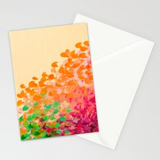 CREATION IN COLOR Autumn Infusion - Colorful Abstract Acrylic Painting Fall Splash Ombre Ocean Waves Stationery Cards