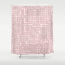 Googly Grid Shower Curtain
