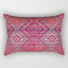 N118 - Pink Colored Oriental Traditional Bohemian Moroccan Artwork. Rectangular Pillow