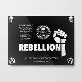 REBELLION Metal Print