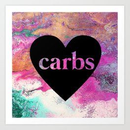 carb love fluid painting. Art Print