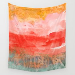coral horizon Wall Tapestry