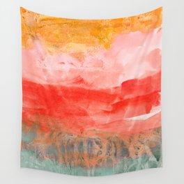 coral horizon Wall Tapestry