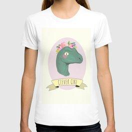 Clever Girl Dinosaur / Jurassic Park / Gift for Her / Boho Baby Animal Nursery Decor / Feminist T-shirt