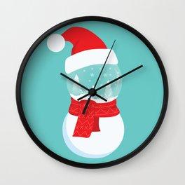 Snow Man versus Snow Ball Merry Christmas Wall Clock