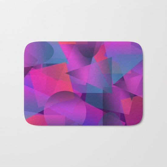 Abstract cube Bath Mat