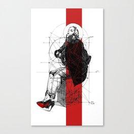 Red Lines. T. Golden Ratio. Baphomet. Yury Fadeev Canvas Print