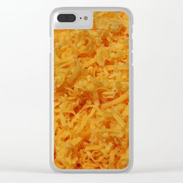 Grated Cheddar Cheese Clear iPhone Case