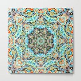 Mandala Tapestry Metal Print